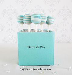 Tiffany & Co. Inspired Personalized Cake Pop Holder. $6.50, via Etsy.