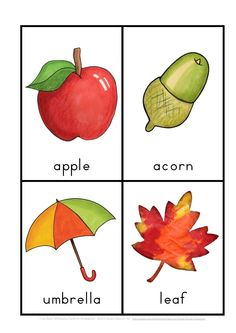 I Can Read Fall Reading for Kindergarten {vocab cards  sentence work}$