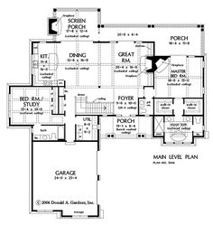 House Plan The Asiago Ridge by Donald A. Gardner Architects