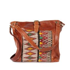 Bohemia: Savannah Kilim Bag Tan