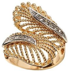 Feather Pave Ring