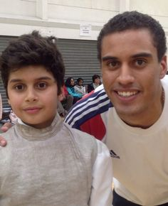 Zayd with European Fencing Champion James Davis