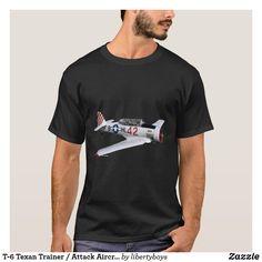 T-6 Texan Trainer / Attack Aircraft T-Shirt Chino Hills California, Indio California, Lenoir North Carolina, Davidson North Carolina, Retro Birthday, Sun Designs, Fish Design, Vintage Looks, Tshirt Colors