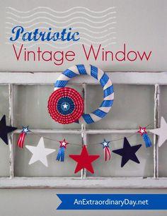 A vintage window is