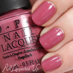 OPI Just Lanai-ing Around swatch - Spring 2015 Hawaii via OPI Just Lanai-ing Around is a pinked mauve with a barely perceptible crystal shimmer. The pigmentation and creamy feel of the polish made for a smooth application in two coats. Colorful Nail Designs, Nail Art Designs, Cute Nails, Pretty Nails, Opi Nails, Nail Polishes, Opi Nail Polish Colors, Pink Nail Colors, Opi Polish