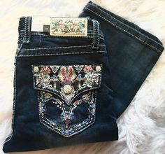 GRACE IN L.A REFLECTING WATERS EASY BOOTCUT JEANS - decadenceboutique