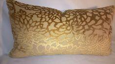 Exquisite Lee Jofa Foglia Cut Velvet Lumbar by yorkshiredesigns