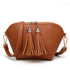 995653715 Famous Brand Designer Handbags High Quality Women's Shell Tassel Bag