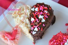 Valentine's Day Heart Rice Krispies Treats