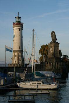 Beautiful harbor, Lindau, Germany