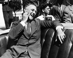 Candid portrait of President Franklin Roosevelt
