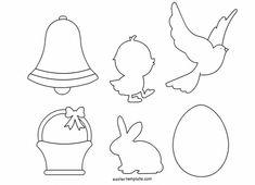 Printable Easter Shapes Related images:Easter Bunny Paper CraftCraft Template - HenLadybug Cut Out Pattern Easter Templates, Bunny Templates, Mothers Day Flower Pot, Diy Osterschmuck, Diy Ostern, Diy Easter Decorations, String Art, Easter Baskets, Easter Crafts