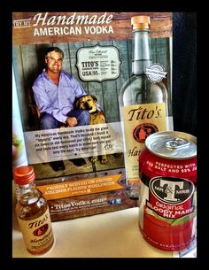 Tito's Handmade Vodka is now officially on the beverage carts of United Airlines worldwide!// This makes us so happy!
