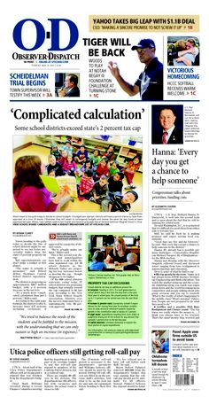 The front page for Tuesday, May 21, 2013: 'Complicated calculation'