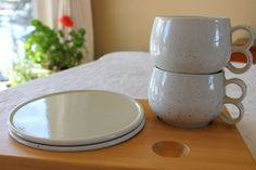 Vintage Pentik Finland Ceramic Mug Plate and Tray set by objectsofvirtu on Etsy