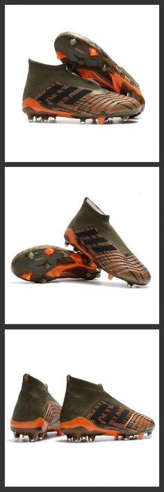 85b642d1e1186 2018 Scarpe Calcio Adidas Predator 18+ FG - Tacchetti da Calcio Oliva Nero  Bright Orange
