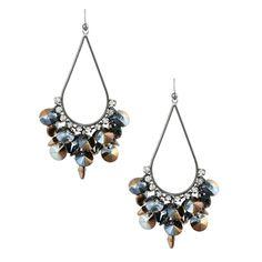 Reflective Bauble Chandelier Statement Earrings