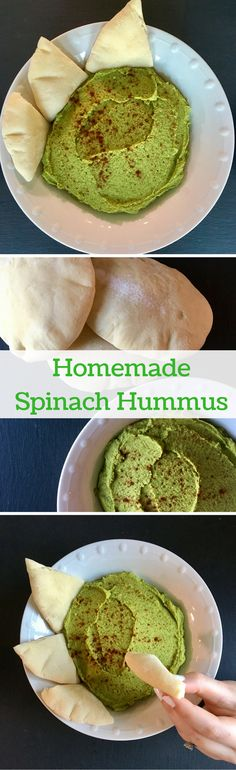 Homemade Spinach Hummus