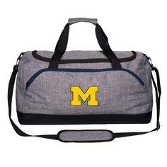 9045e3d15b74 Michigan Wolverines Heathered Gray Duffle Bag