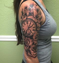 80 Timeless Pocket Watch Tattoo Ideas - A Classic and Fashionable Totem Check more at http://tattoo-journal.com/best-pocket-watch-tattoo-designs-meaning/