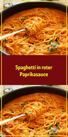 Spaghetti in roter Paprikasauce Einfache Rezepte potato al horno asadas fritas recetas diet diet plan diet recipes recipes Paprika Sauce, Pate Spaghetti, Red Pepper Sauce, Mexican Breakfast Recipes, Southern Recipes, Food And Drink, A Food, Italian Recipes, Gourmet