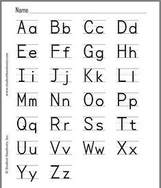 Alphabet Letter Writing Formation Chart .. Zaner Bloser