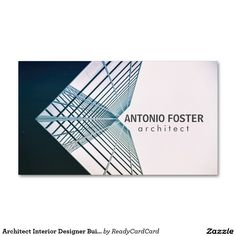 Architect Interior Designer Buildings Sky Skyline Business Card