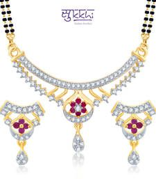 Buy Sukkhi Resplendent Gold and Rhodium Plated Cubic Zirconia Stone Studded Mangalsutra Set(14031MSCZK1550) mangalsutra online