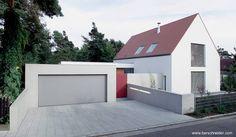 Arquitectura de Casas: Casa moderna de suburbio en Alemania.