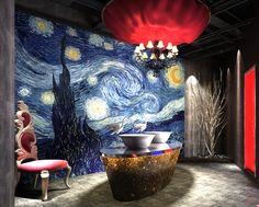 Van Gogh, Wincent - Starry Night - Wall mural, Wallpaper, Photowall, Home decor, Fototapet
