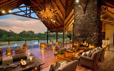 Lion Sands Narina Lodge offers you luxury safari lodge accommodation in the Sabi Sands Game Reserve near Kruger National Park. Game Reserve South Africa, Sand Game, Hotel Boutique, Game Lodge, River Lodge, Villa, Beautiful Hotels, Amazing Hotels, Travel And Leisure