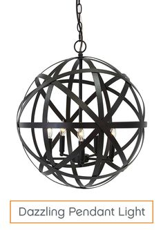 A pendant light is a fabulous and easy way to add light to any space, while serving as a stunning focal point. Choose a fixture with an intricate design to add wow factor to your home.