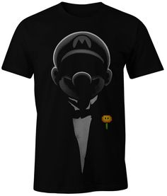 NEW BLACK VIDEO GAME T-SHIRT SUPER MARIO NINTENDO PERSONALIZED TEE 100% COTTON #Unbranded #PersonalizedTee #SUPER #MARIO #GAMER
