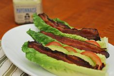 Whole30 - Bacon Lettuce Tomato and Avocado Wrap - so clean- so simple.