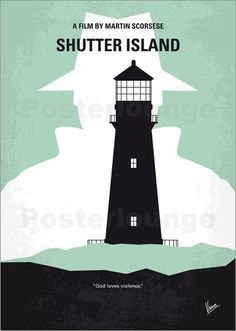 Poster No513 My Shutter Island minimal movie poster