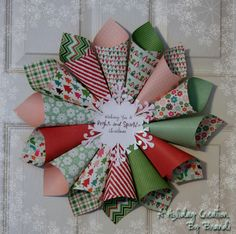 cone christmas wreath
