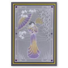 x Groovi Plate Groovi Plate™ (GP) Intricate and clever designs have been laser etched with precision into top quality acrylic plates, thereby allowi Embossing Tool, Asian Cards, Parchment Cards, Plate Design, Japanese Paper, Border Design, Ribbon Embroidery, Plate Sets, Birthday Cards