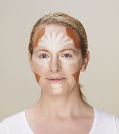 Face fit for a 40th: Jill plans to try face-contouring again at her birthday celebrations... Makeup contouring  heart shape face