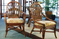 Casual, Contemporary and Conventional Outdoor Furniture Indoor Wicker Furniture, Merida, Dining Chairs, Contemporary, Floral, Home Decor, Bamboo Furniture, Decoration Home, Room Decor