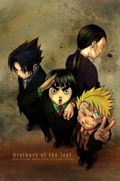 Naruto, Rock Lee, Sasuke, & Neji