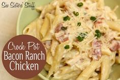 No Fuss Bacon Ranch Chicken is a creamy comfort food that is simple and delicious. Sour cream and cream of chicken soup make the chicken moist. Ranch dressing mix seasons this chicken bacon ranch recipe. The bacon really adds a nice flavor to this dish.