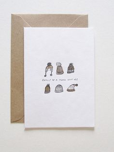 love this simple card Denote Stationery: 'Nanas knit off' Christmas Card