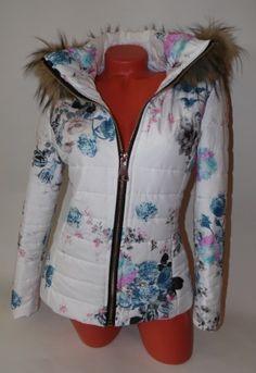 Kapucnis virágmintás őszi kabát S,M,L,XL