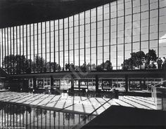 Olympic Pool by Kevin Borland, Peter McIntyre, John and Phyllis Murphy. Melbourne, Australia 1956.  Photograph by Wolfgang Sievers.