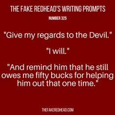 TFR's Writing Prompt 325