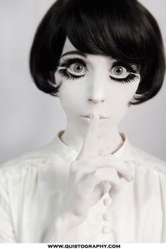 Ghost Gothic Doll Makeup for Halloween Costume