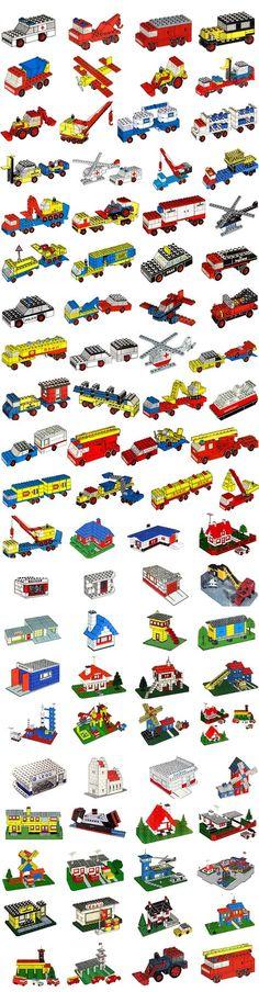 """Classic"""" Legoland - N° de boîtes."""