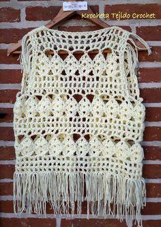 Crochet Vest Pattern, Crochet Fabric, Crochet Jacket, Crochet Cardigan, Diy Crochet, Crochet Stitches, Crochet Top, Crochet Patterns, Simply Crochet