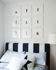 Cup of Jo Makeover | The Nursery: tip: use watercolor paper to mount pictures and not spend a fortune on matting