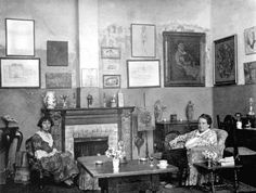 Man Ray's photograph of Alice B. Toklas and Gertrude Stein in their apartment at 27 Rue de Fleurus, Paris, in the early 1920s. Description from pinterest.com. I searched for this on bing.com/images